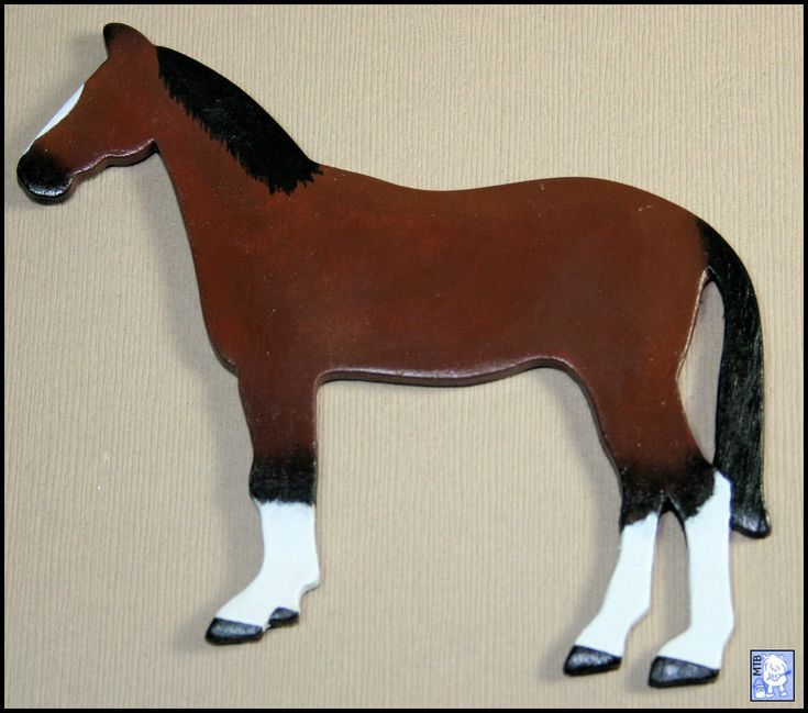 Horse Pony Magnet Bay Brown OOAK Handmade Wooden Kitchen Office Refrigerator Fridge #horseart #horse #etsyseller #etsyshop #magnet #custommagnet #custommade #makersgonnamake #plastercasting