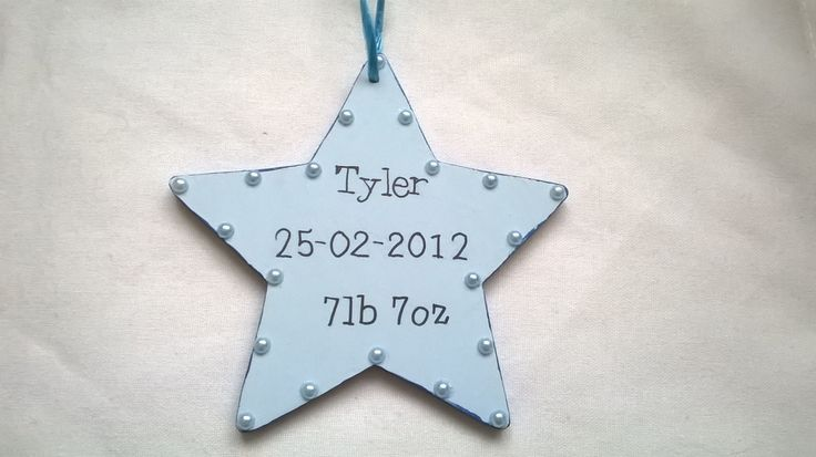 new baby gift, personalized baby gift, nursery decoration, christening present, memory star, wall plaque, baby shower gift, new mummy gift - pinned by pin4etsy.com