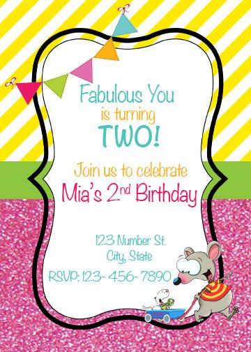 Toopy and Binoo Birthday Invitation Toopy and by AdelesAccessories, $13.00