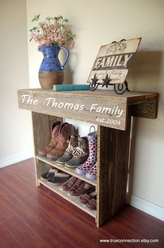 Farmhouse Entry Table Rustic Furniture Country by | http://kitchendesignsaz857.blogspot.com.... I wouldn't use it for shoes!!