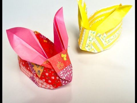 Origami : Bunny Basket - YouTube