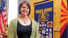 Kayla Mueller, working for Support to Life in Turkey, spoke to the Prescott Kiwanis Club in Prescott, Arizona, on May 30, 2013, about the situation in Syria and efforts to build a second camp for Syrian refugees in Turkey.