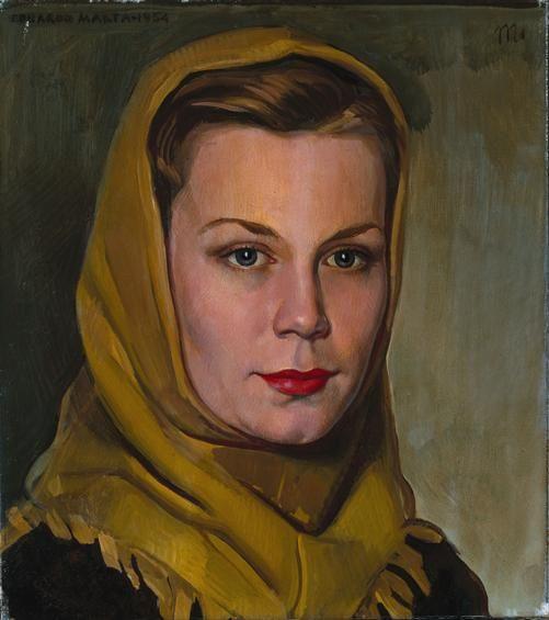 Eduardo Malta, Portrait of a Woman, 1945, Museu da Guarda