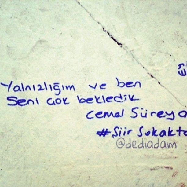 Yalnızlığım ve ben seni çok bekledik. www.dediadam.com…