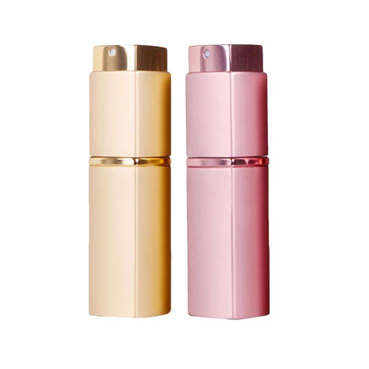 2 Colores 20 ml Botellas Vacías Botellas de Perfume Recargable Del Atomizador Del Aerosol Mini Portátil Cuadrados Regalos de Botellas de Envases Cosméticos