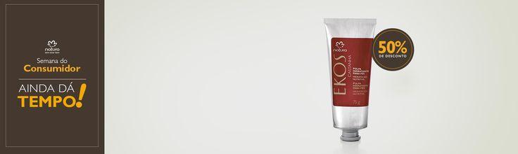http://rede.natura.net/espaco/RoseliSantos AQUI TEM PROMOÇÃO Poder nutritivo, hidratação, maciez e proteção. Compre online a polpa desodorante hidratante para os pés Natura Ekos castanha pela metade do preço. Aproveite! De R$32,90 Por R$16,40 Promoção válida de 22 a 24/03, ou enquanto durarem os estoques.