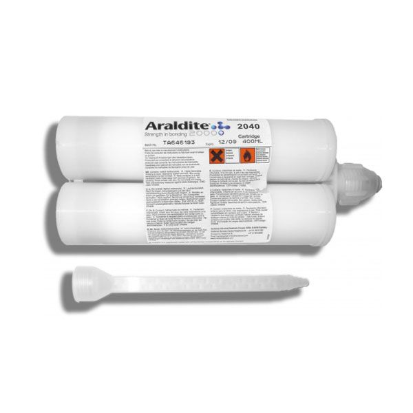 Araldite 2040 A/B is a two component, low shrinkage, flexible polyurethane adhesive. This advanced material is well suited for bonding polycarbonate, polyamides as well as primed metals. It has excellent gap filling properties and the material is ideal for thick bondlines.