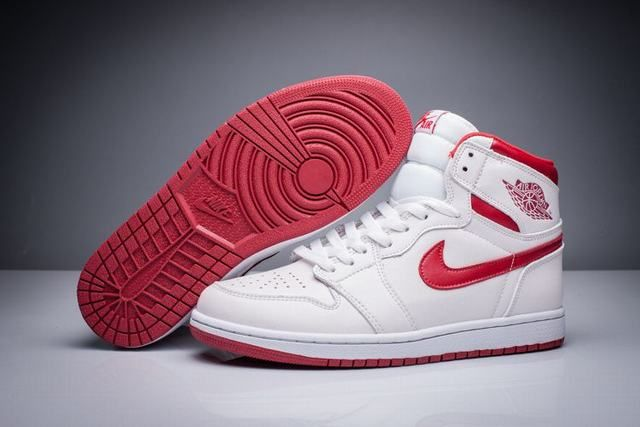 air jordan 1 blanche rouge