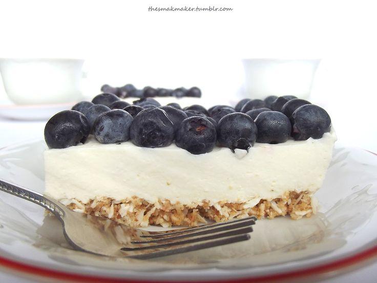 No-bake blueberry cake