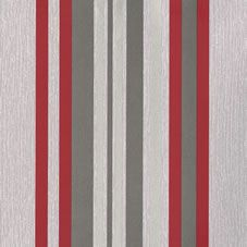 This bold black and red striped wallpaper is the perfect complement to Muriva's Millie floral. <br><br>53cm wide, 10.05m long.  Pattern match of 26.5cm. 1 roll will provide coverage of 5.3m².  Washable and wet removable. FSC Certified product from well-  managed forests and controlled sources. Minimum order quantity of 2 rolls.