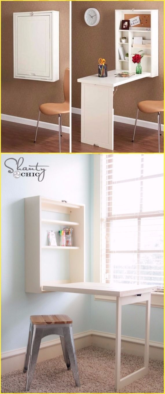 Diy Wall Mounted Desk Free Plans Instructions Wall Mounted Desk Murphy Desk Murphy Table