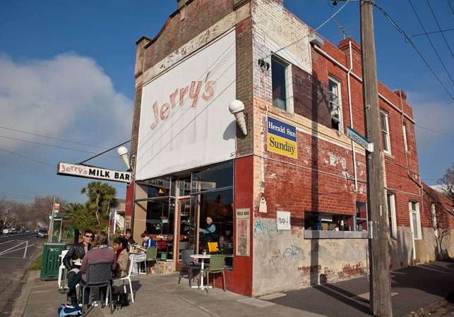 Jerry's Milk Bar, Elwood  Great place for breakfast after big walk on Elwood Beach!