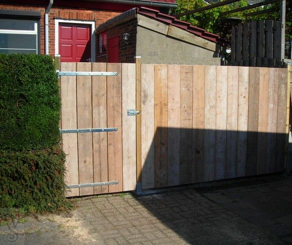 Scaffolding Board Fence Garden Design Garage Doors Fence