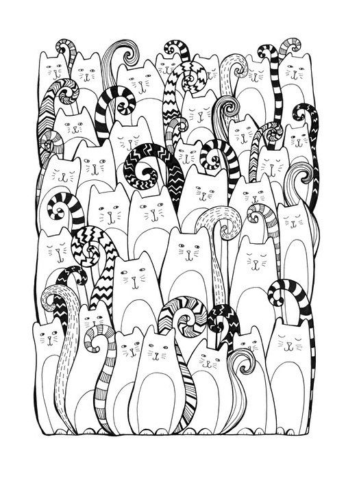 27 best images about ausmalbilder on pinterest coloring cute cats and adult coloring pages. Black Bedroom Furniture Sets. Home Design Ideas