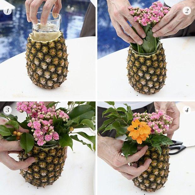 Vamos Receber: Abacaxi para uma mesa tropical (Foto: Karen Hofstetter)