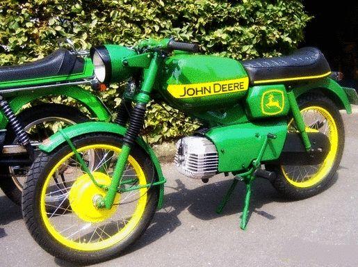 John Deere Green Motorcycle