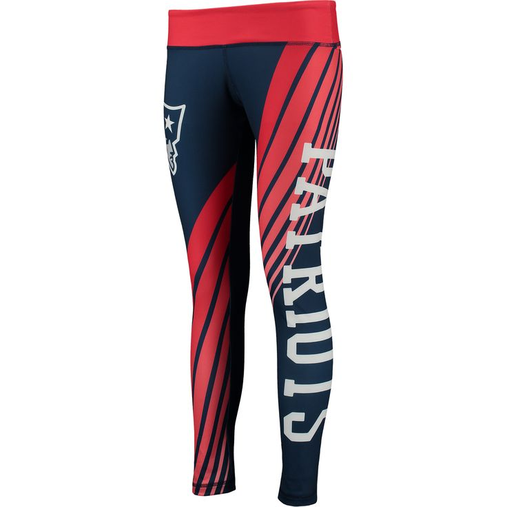 NFL New England Patriots Concepts Sport Women's Dynamic Sublimated Leggings - Navy/Red