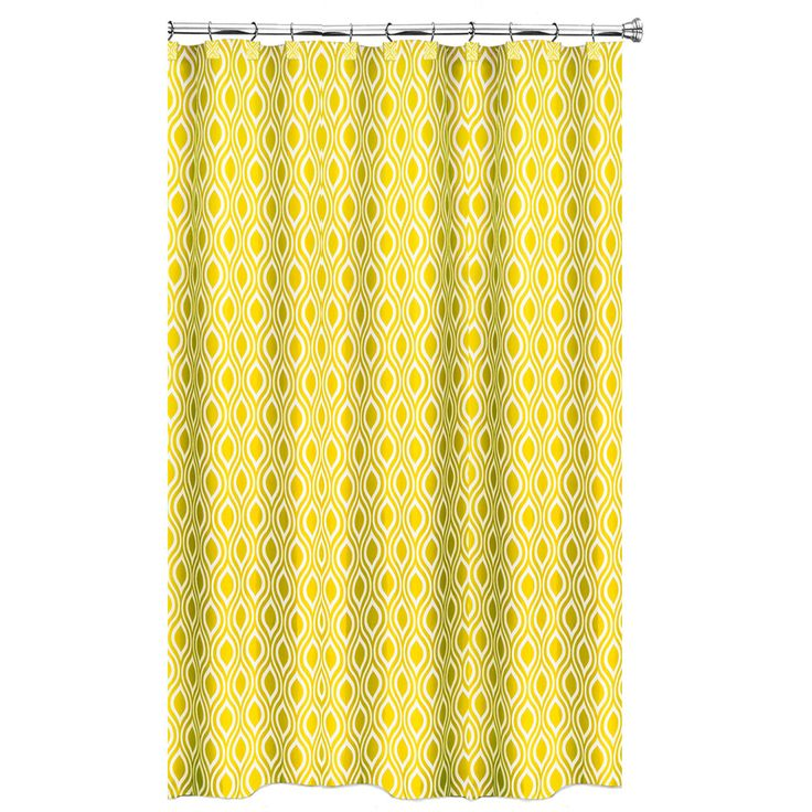 Nicole Corn Yellow Shower Curtain