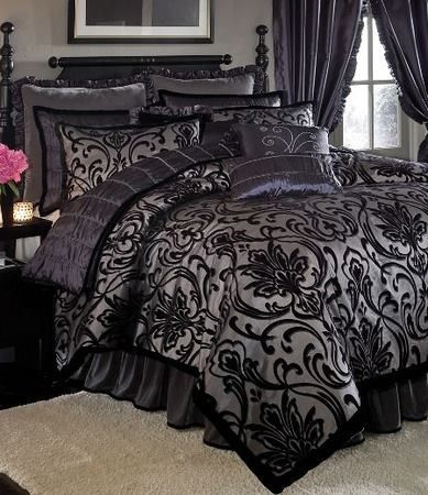 gothic bedding victorian goth pinterest bedding damask bedding and gothic. Black Bedroom Furniture Sets. Home Design Ideas