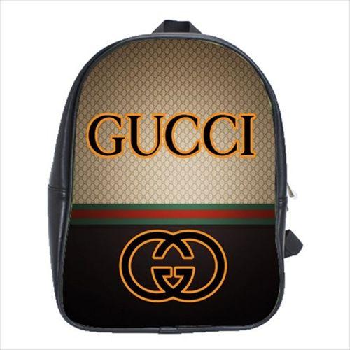 Brand Gucci Logo  2869 School Bag Shoulder Leather Backpack ...