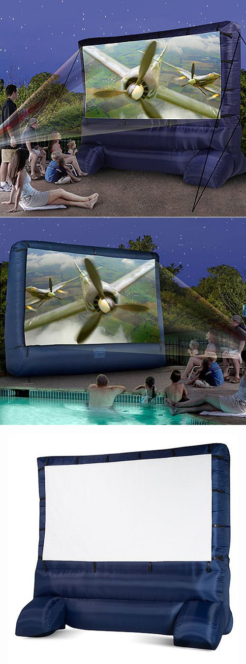 Inflatable Movie Screen - Are you ready for summer night events? #backyard www.MyWonderList.com/