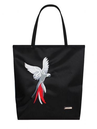 Shopper bag Parrot (black)