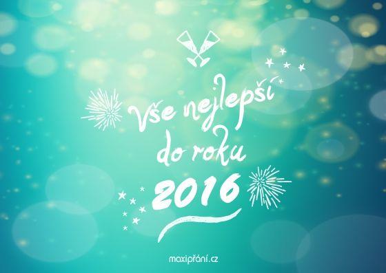 Novoroční přání PF 2016 hvězdná obloha - přední strana
