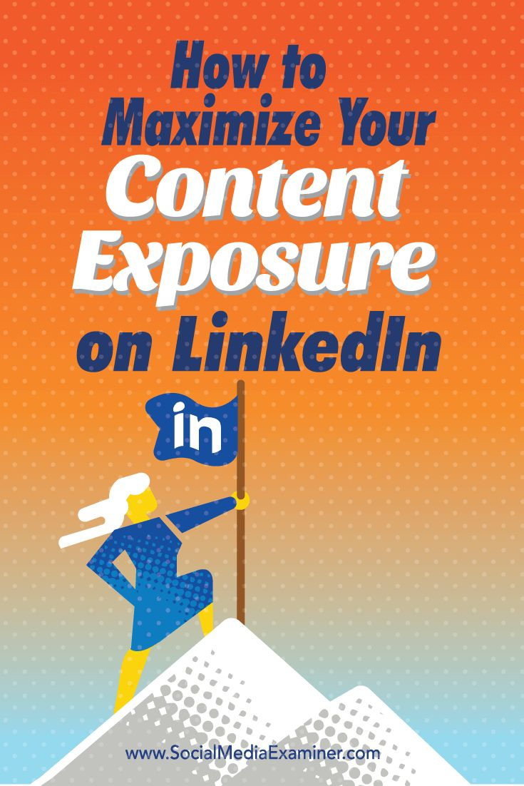 Are you taking advantage of all of LinkedIn's content marketing features? With a few tweaks to what you post on LinkedIn, you can build brand awareness, generate leads, and drive more revenue. In this article you'll discover how to maximize your LinkedIn content exposure. Via @smexaminer.