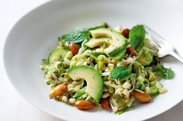 Build up your intake of seeds and grains, nuts and sprouts in Jill Dupleix's gorgeous textural salad of nutty, low-GI brown rice that has flavour to burn.