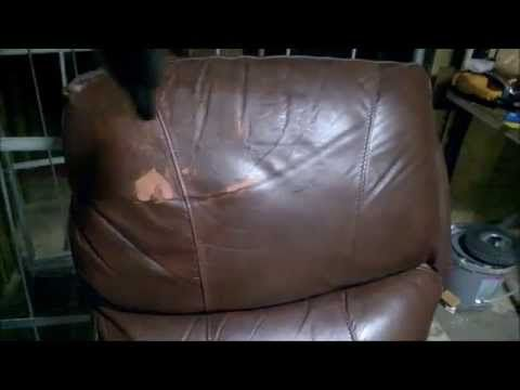 how to repair a Peeling Leather Couch steep by steep - YouTube
