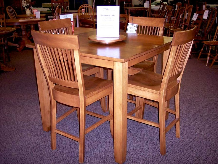 High Quality Mission Maple Pub Table | Amish Furniture | Solid Wood Mission Shaker  Furniture | Chicago Area