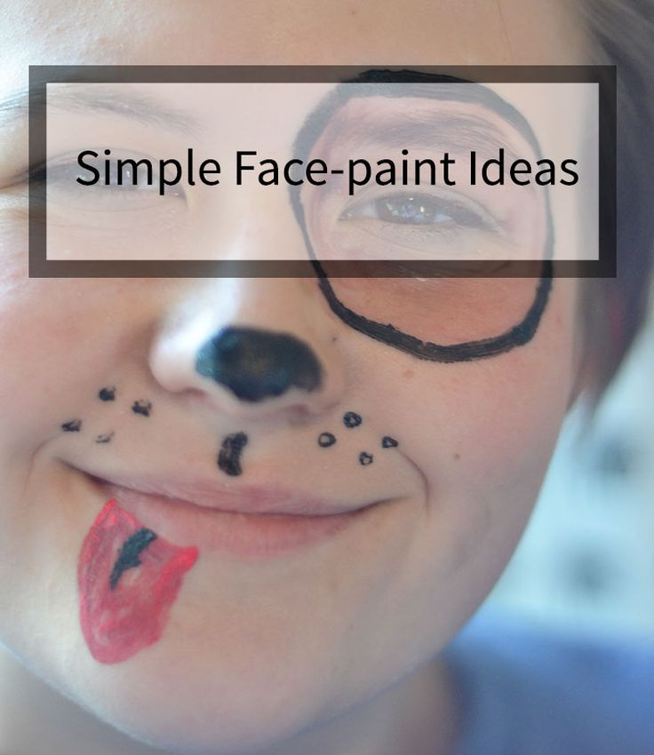 SIMPLE DESIGNS FOR FACE PAINTING These easy face paint tutorials will help you create a fun Halloween for the kids in your life. They are super simple and easy to replicate.