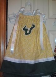 University of South Florida (USF) Bulls Pillowcase Dress **FREE SHIPPING**