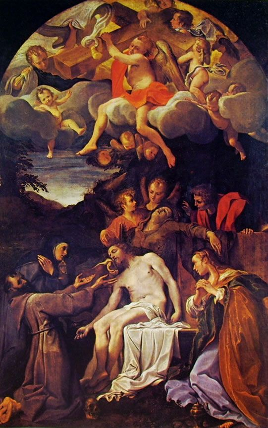 Pietà e Santi Parma Annibale Carracci 1585