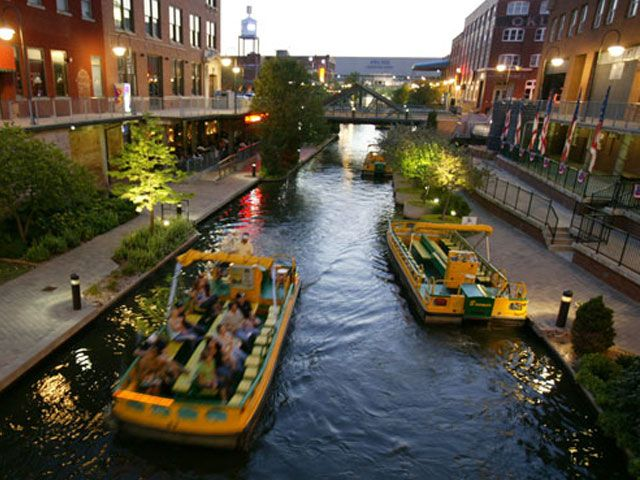 The Bricktown Canal is a man-made canal which is located in the historic Bricktown district of  Oklahoma City.