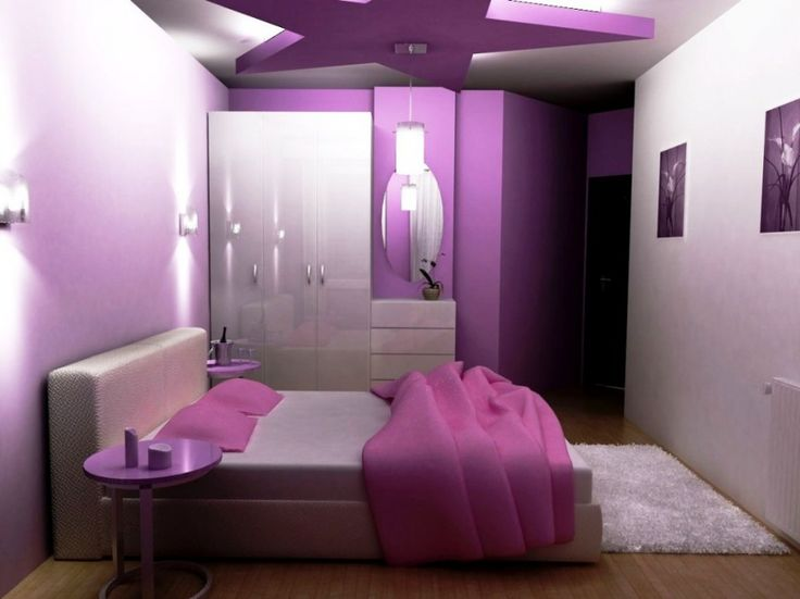 Girls' Bedroom Wall Decorating Ideas | bedroom-magnificent-teenage-girls-bedroom-decoration-ideas-in-purple ...