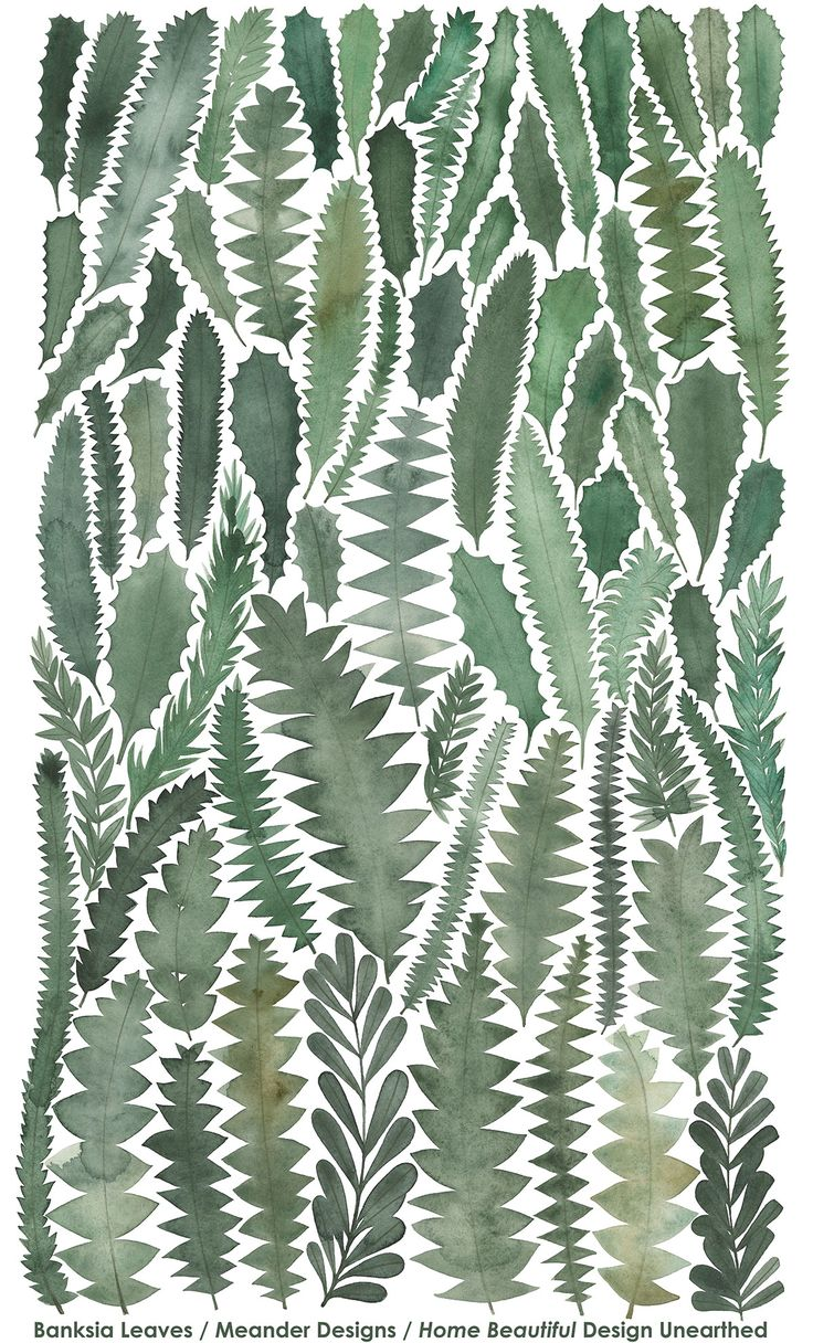 Banksia Leaves Tea Towel Home Beautiful Magazine on Behance