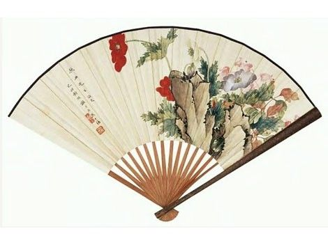 Chinese fans - my mother had several of these around the house when I was young.