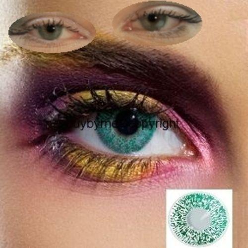 82081 lentille de couleur vert VERTE lens color green contact coloured verde
