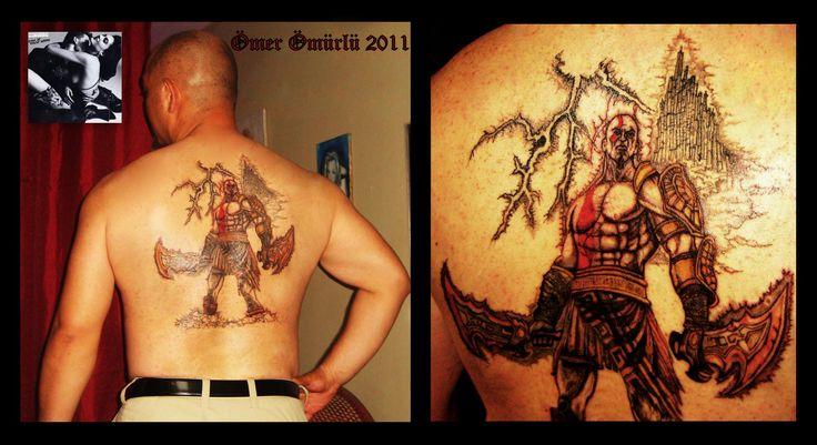 God of War ''Kratos'' tattoo by Ömer Ömürlü  God Of War dövmesi.Denizli Dövme Ömer Ömürlü