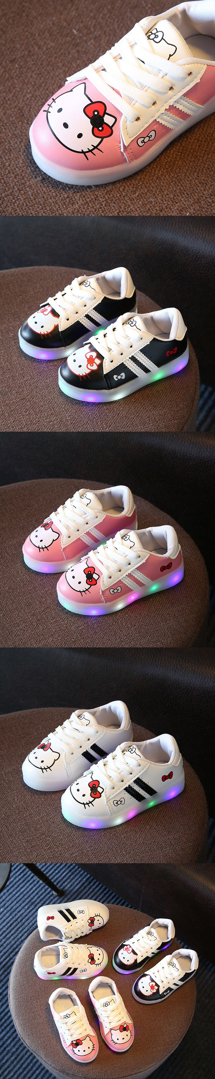 New 2017 European casual Cool LED Light girls boys shoes Cute casual kids glowing sneakers Net breathable baby children shoes