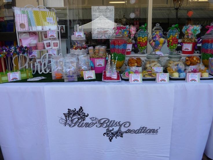 Beautiful Rainbow Lolly Bar By Prue Bliss - http://www.facebook.com/PureBlissCreations
