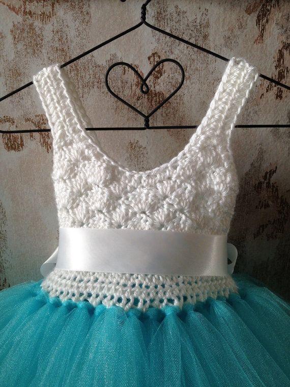 Flower Girl Tutu Dress umpire tutu dress crochet tutu от Qt2t