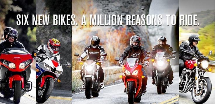 New Honda motorbikes for 2013  http://www.kestrelhonda.co.uk
