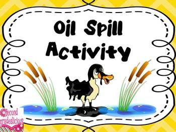 Oil Spill Science Experiment, great for learning about water/ecosystems, also works for learning about liquids (mixing oil and water). Great Earth Day activity too!  $