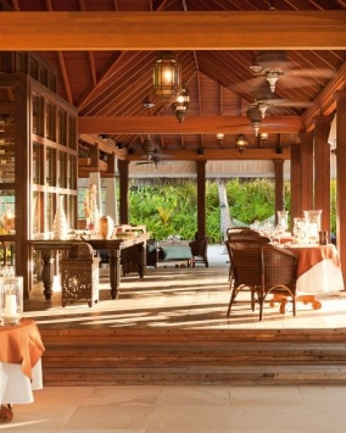 Naladhu Maldives  ( Male, Maldives )  The airy Living Room has a walk-in wine cellar and gorgeous lagoon views. #Jetsetter #JSBeachDining