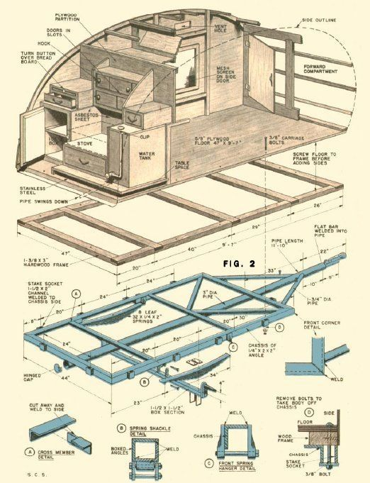 Free Teardrop Trailer Plans | ... Teardrop Trailer Campers Chuck Wagon Plans: Compact Teardrop Trailer by letitia
