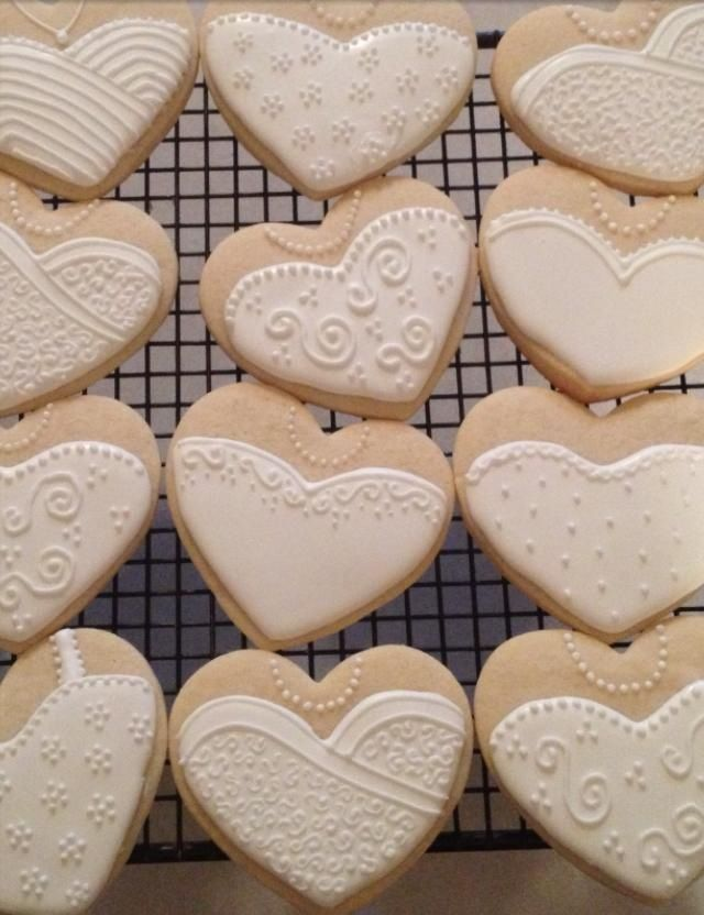 bridal shower cookies instead of cake/cupcakes. easier to just grab one and eat and no mess or cleanup! also no prep time!