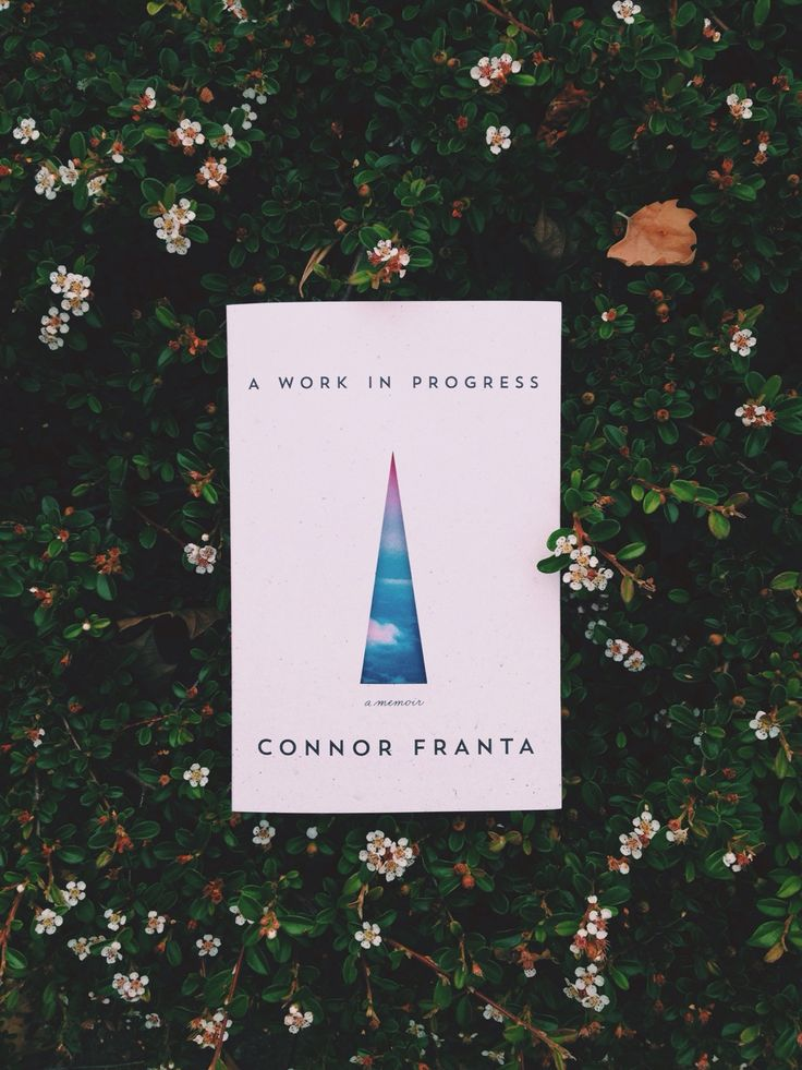 Connor Franta's book 'a work in progress' is honestly one of the best books I have read, as there are many times that I was able to relate and appreciate this book.