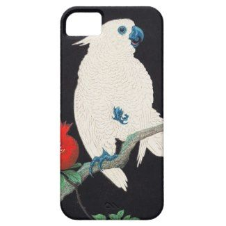 SOLD! - Ohara Shoson, Cockatoo and Pomegranate ukiyo-e iPhone 5 Cover #SHOSON #cockatoo #pomegranate #ukiyoe #hanga #iphone5 #case #cover #apple